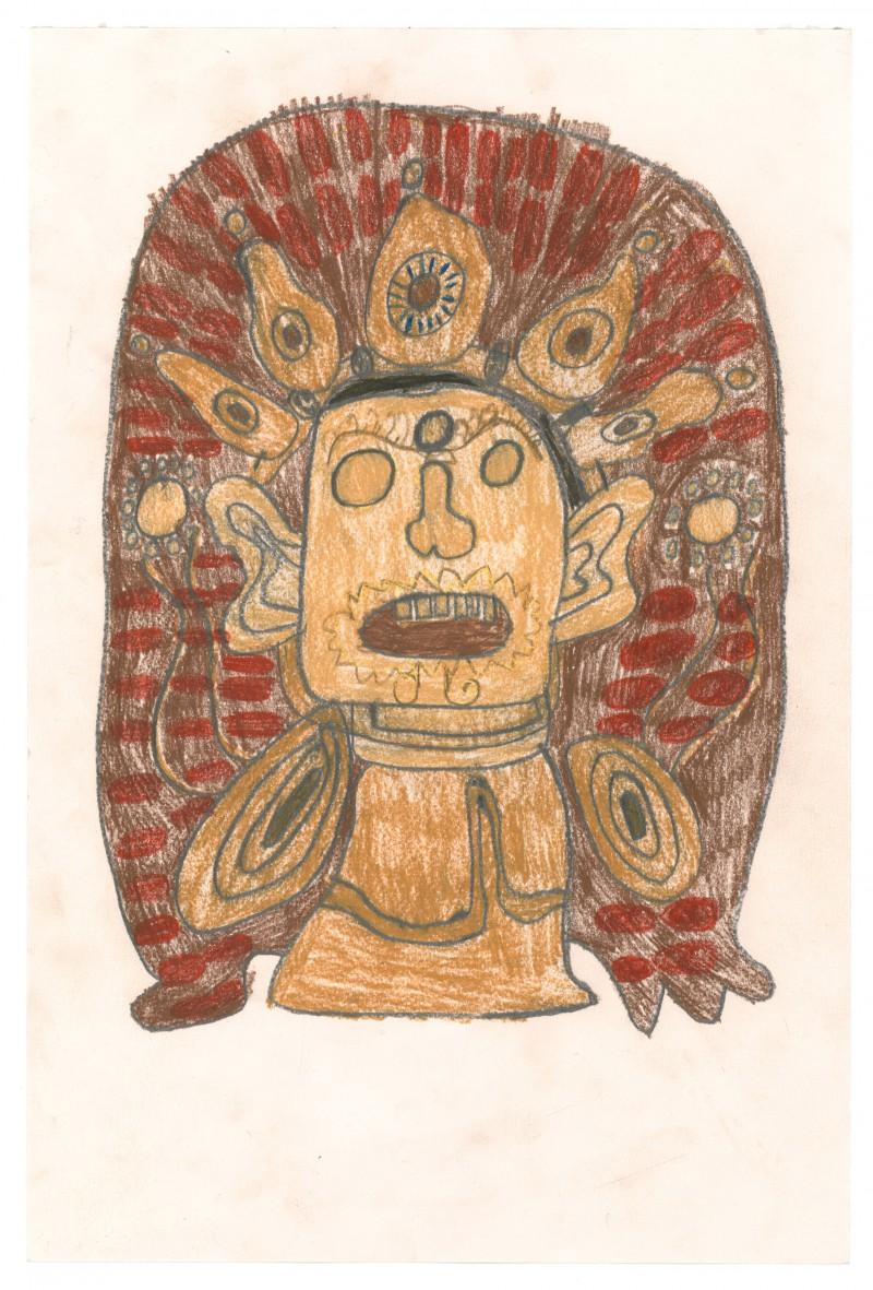 Brown Hindu Mask