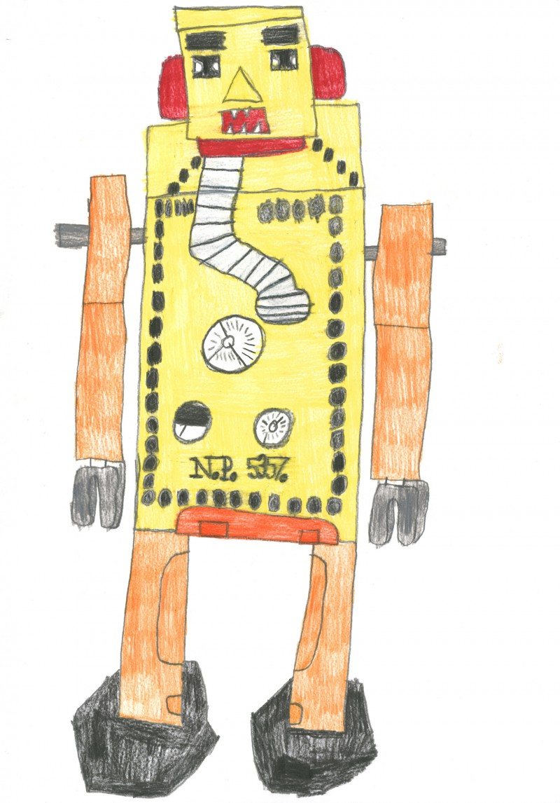 Yellow and Orange Robot