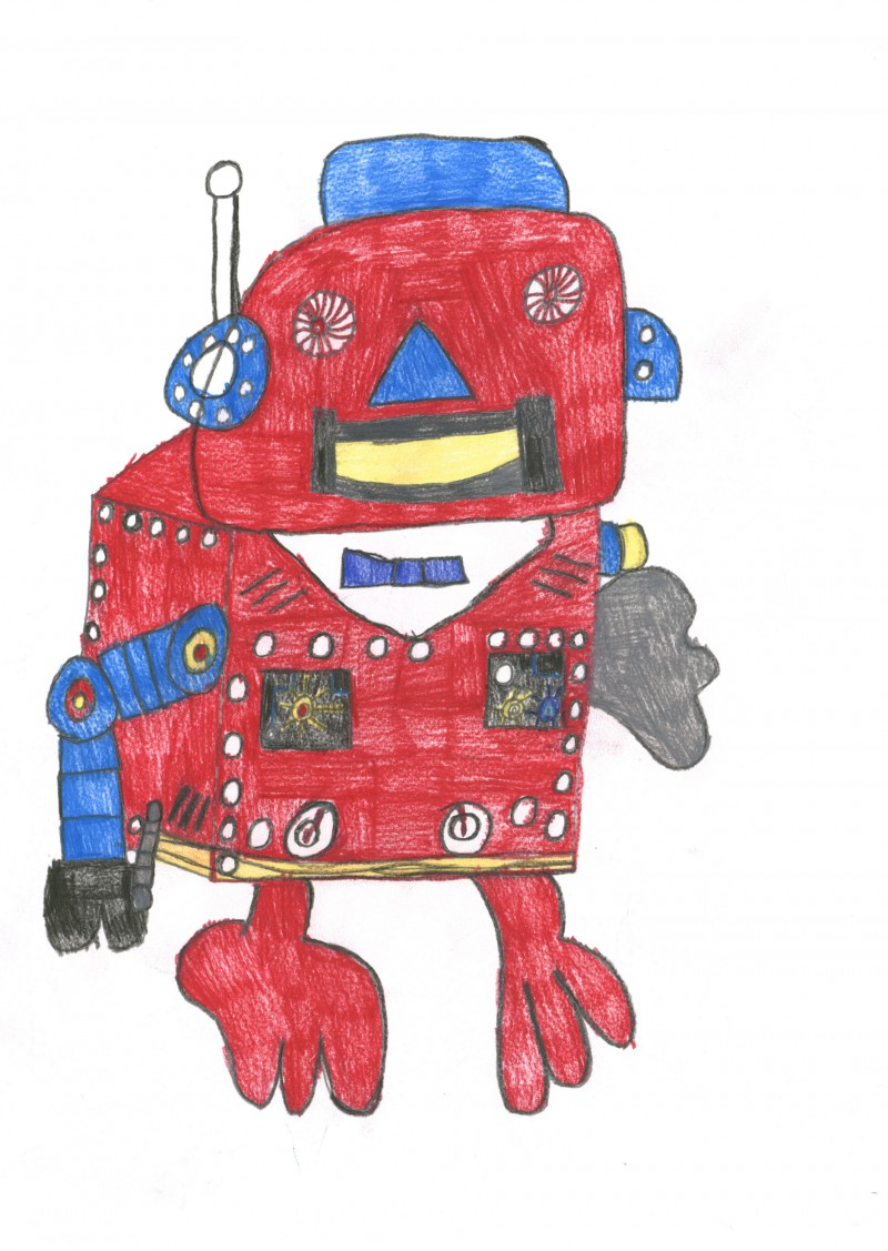 Small Red Robot