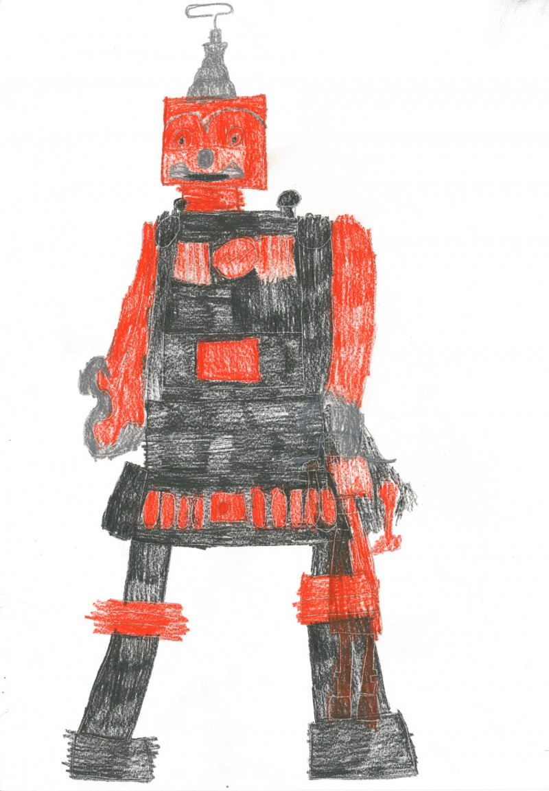 Red and Black Robot