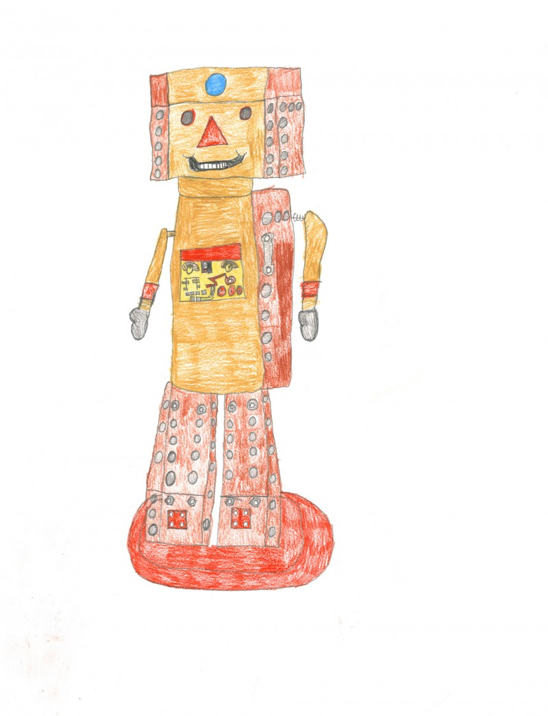 Brown and Red Robot