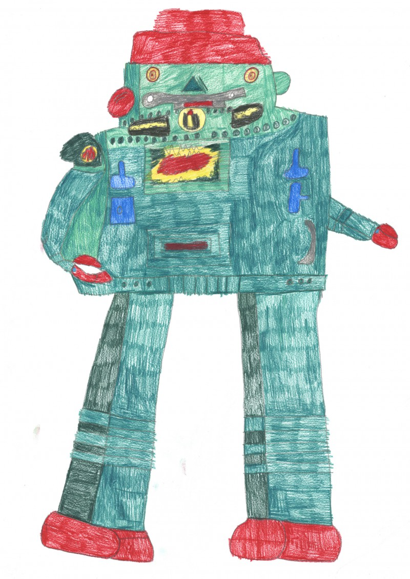 Large Green Robot