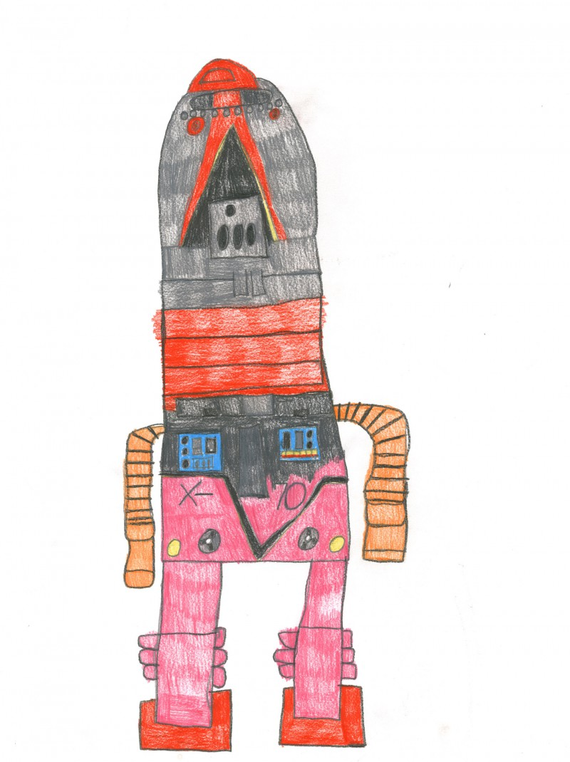 Robot with Pink Legs