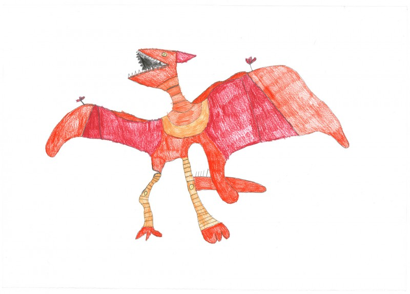 Red Pteradactyl