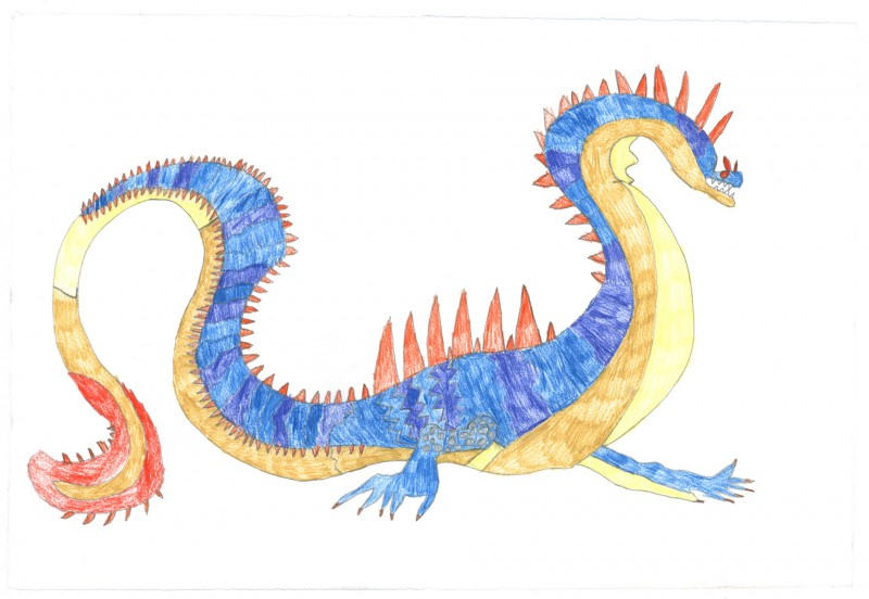 Blue and Yellow Monster
