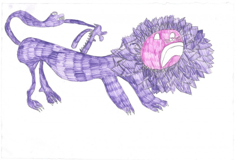 Purple Mythological Creature