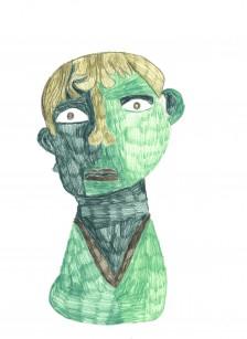 Andre Williams, Green Bronze Head, 2015
