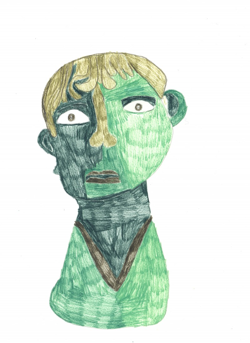 Green Bronze Head