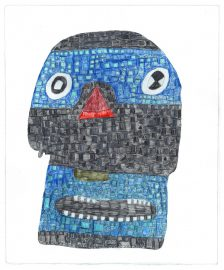 Andre Williams, Mosaic Mask of Tezcatlipoca, 2016