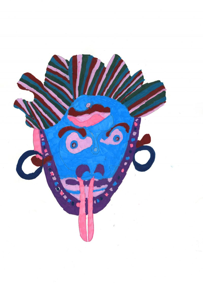 Mask with Tongue Out