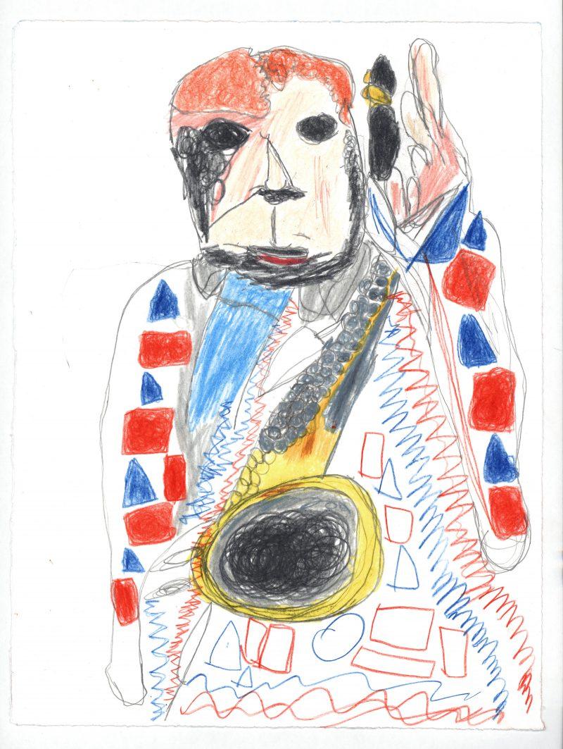 David Bowie and Saxaphone