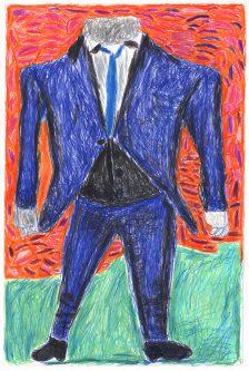 Christian Ovonlen, David Bowie's Blue Suit, 2016