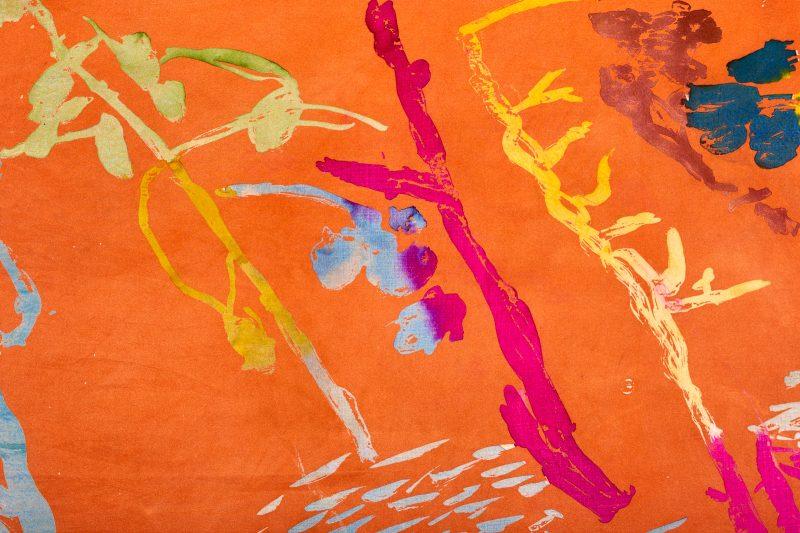 Orange Scarf Detail