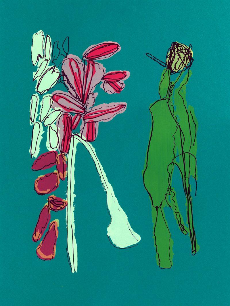 Wildflowers Screenprint (Mars Green)