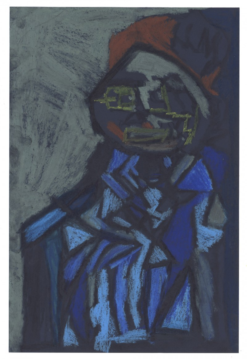 Dark Blue Figure