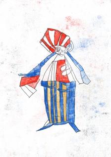 Clifton Wright, Big Stripey Pants, 2015
