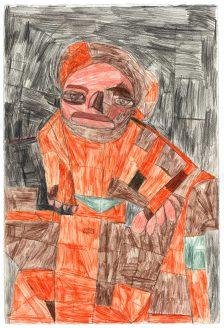 Clifton Wright, Orange Figure, 2017