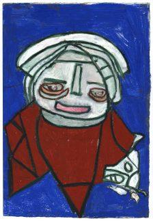 Clifton Wright, Large Blue Portrait , 2017