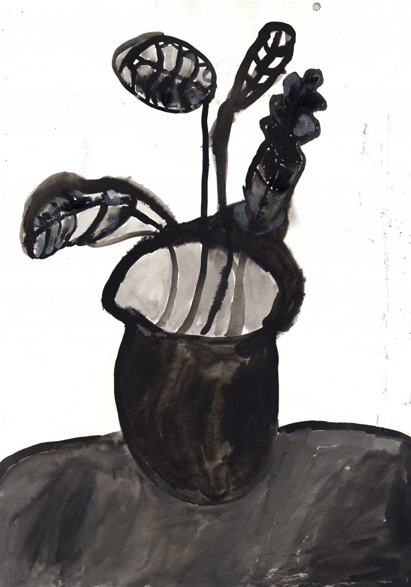 Leaves and Vase