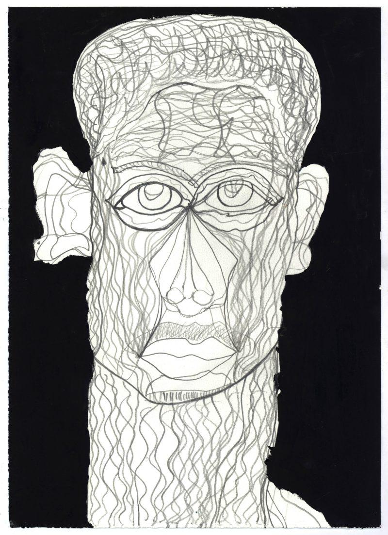 Inked Roman Portrait