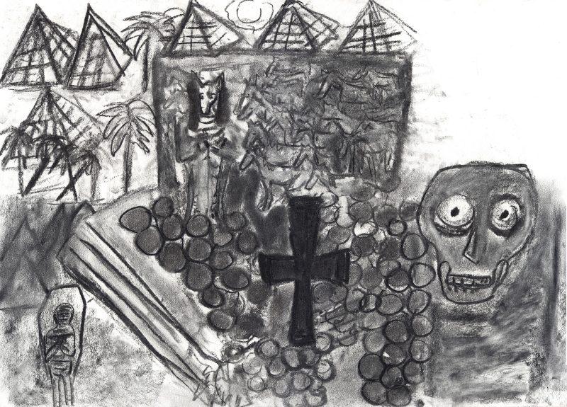 Pyramids with Skull