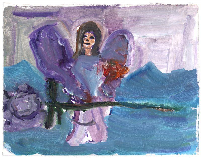 Angel Holding Flower