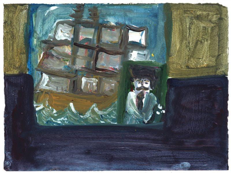 Ship with Portrait