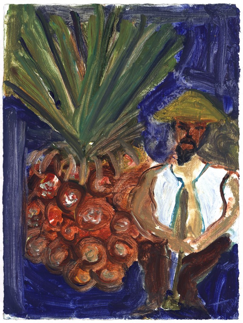 Farmer with Pineapple