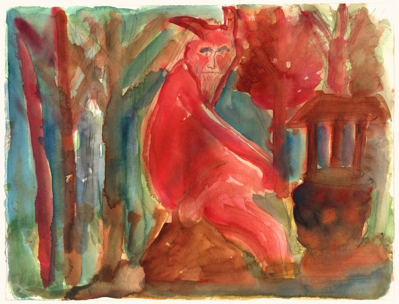 Satyr in the Forest