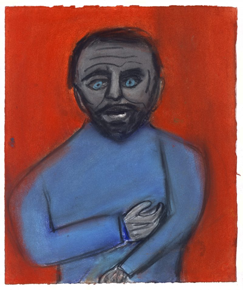 Self Portrait in Blue and Red