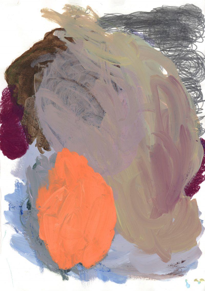 Purple, Orange, Green and Pencil
