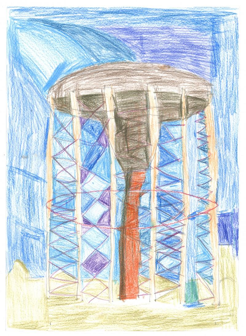 Mushroom Water Tower
