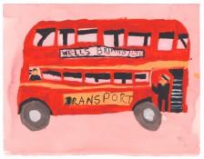 Lisa Trim, Routemaster on Pink, 2015
