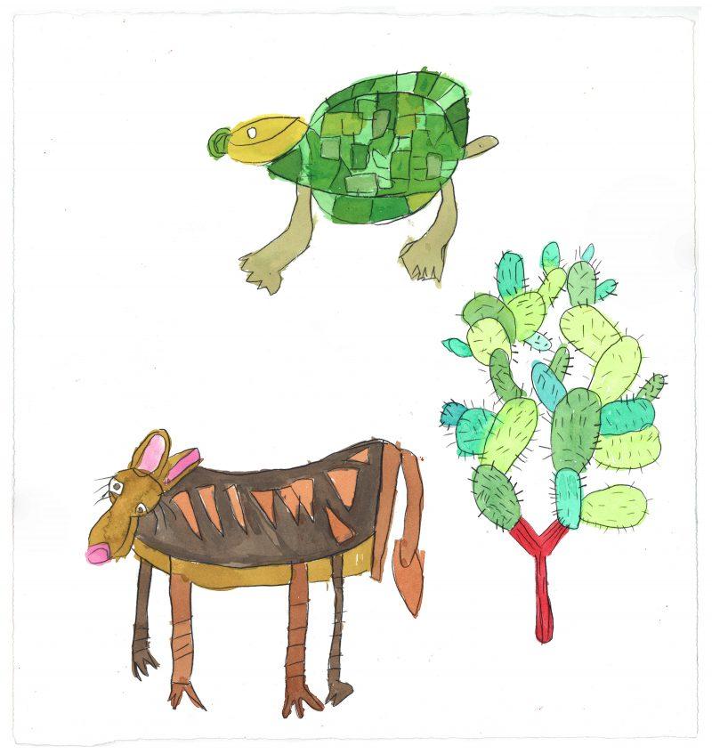 Cactus, Tortoise, Wolf