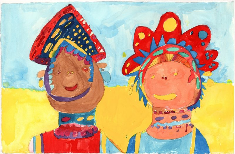 Duo Headdress Portrait