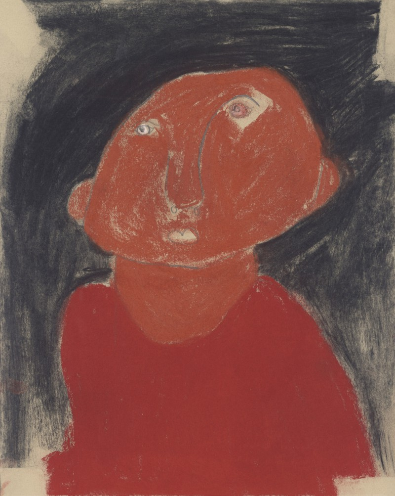 Portrait with Red Top