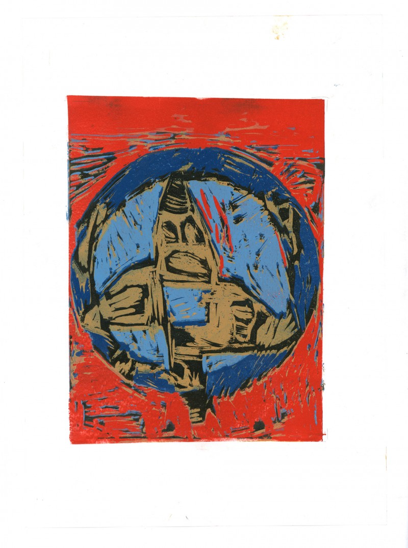 Pattern Linocut