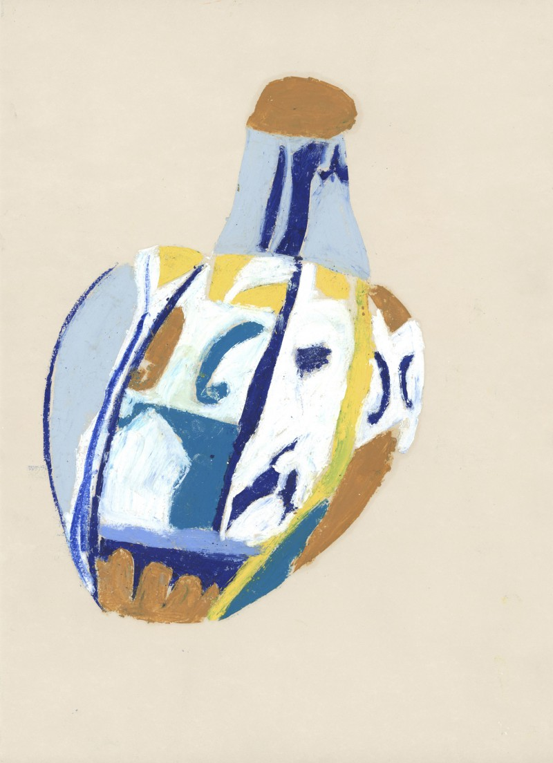 Blue White and Yellow Jug