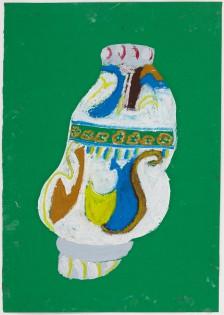 Mawuena Kattah, White Jug with Green Background, 2013