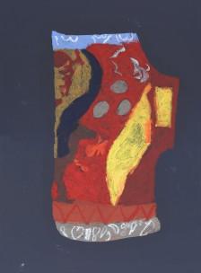 Mawuena Kattah, Red Jug on Black, 2013