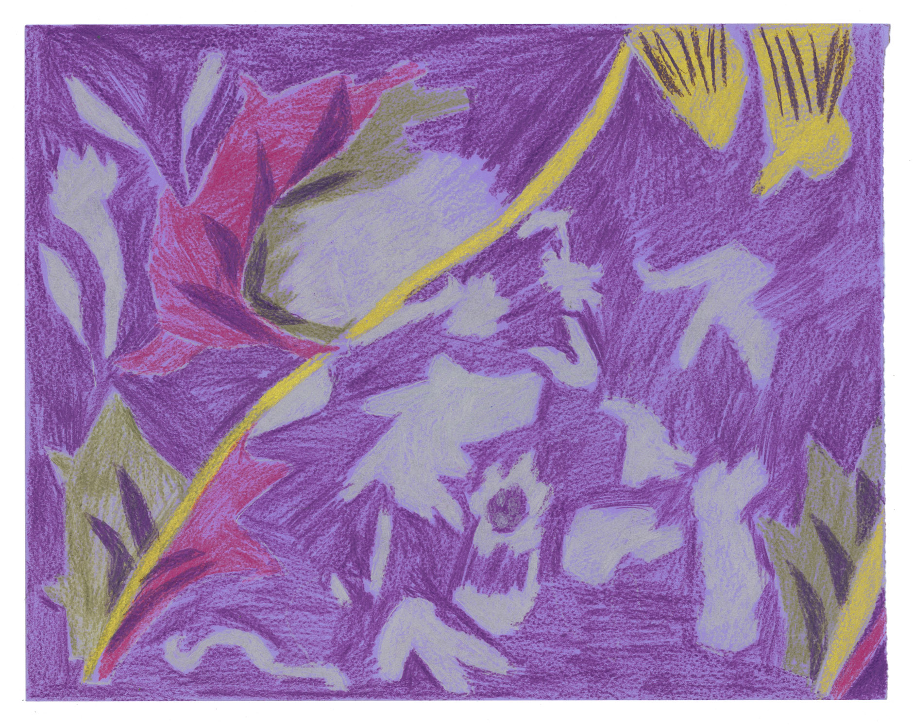 Mawuena Kattah, Purple Fabric, 2014