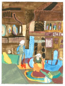 Mawuena Kattah, Moorish Interior 2, 2014