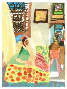 Mawuena Kattah, Moorish Interior 3, 2014