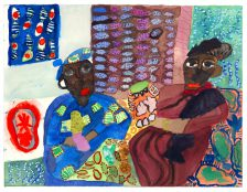Mawuena Kattah, Me and Mum Looking at the Pots, 2016