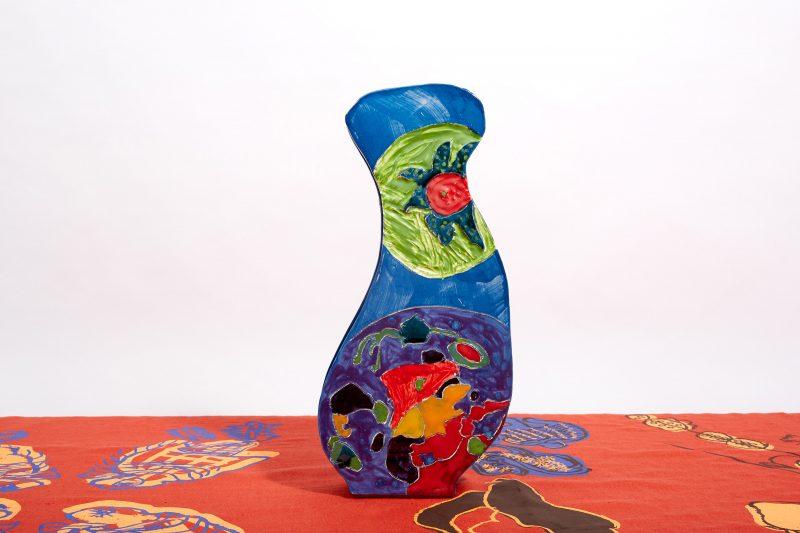 Ceramic Purple Vase