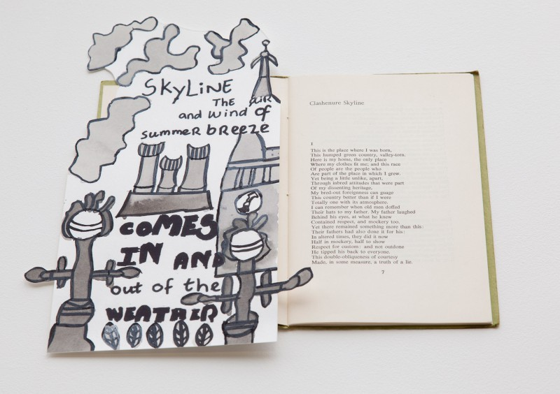 Skyline – Bookmark, exhibited at The Poetry Library