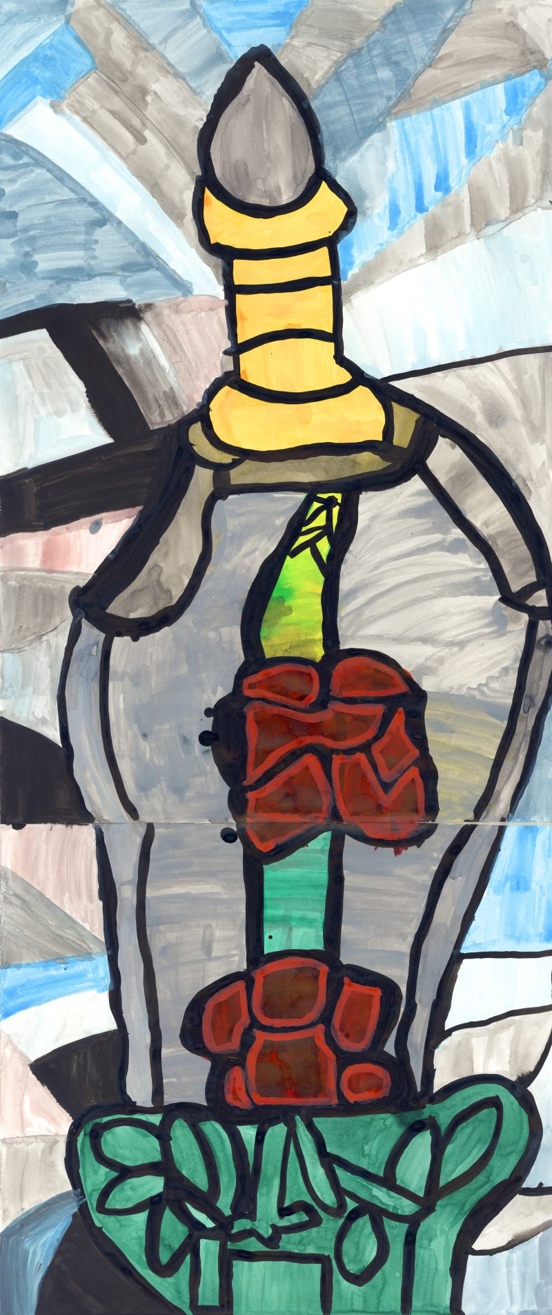 Ntiense E Amooquaye, Red Rose in the Bottle , 2019
