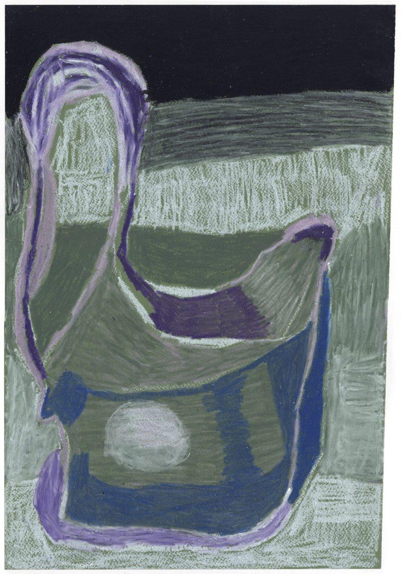 Blue and Purple Vessel
