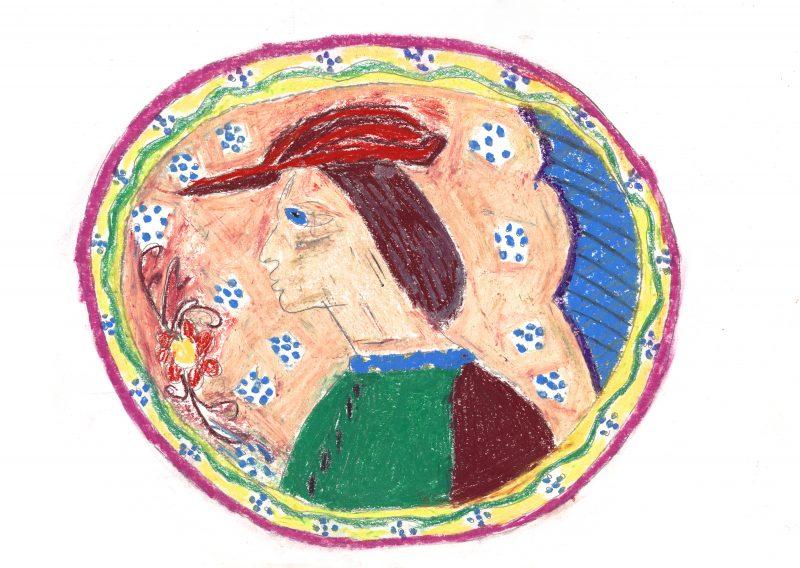 Profile Portrait Plate