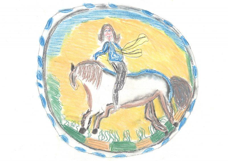 Horse Rider Plate